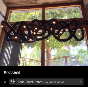 Knot Light by Seth Quest. As seen on Wescover.