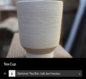 Tea Cup by Atelier Dion. As seen on Wescover.