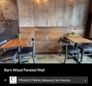 Barn Wood Paneled Wall by Heritage Salvage. Seen on Wescover.