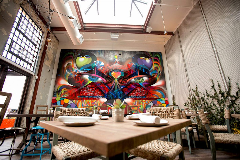 Eyes of San Diego by Chor at Puesto Mexican Street Food & Bar. As seen on Wescover.