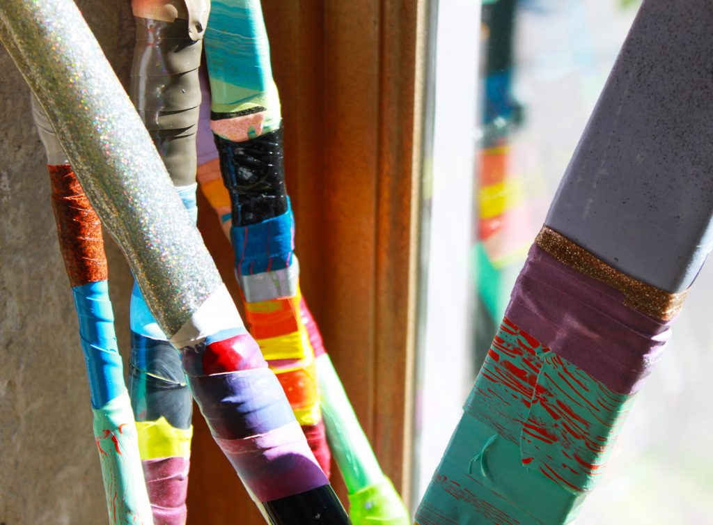 Paint Sticks by Leah Rosenberg. As seen on Wescover.