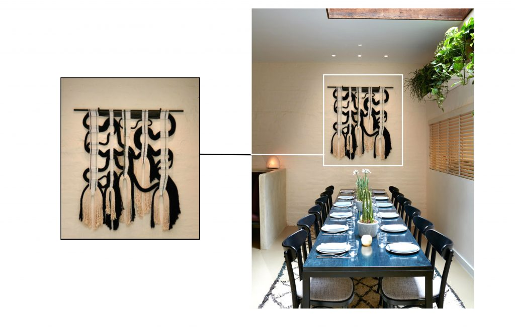 Macrame Wall Hanging by Himo Art. As seen on Wescover.