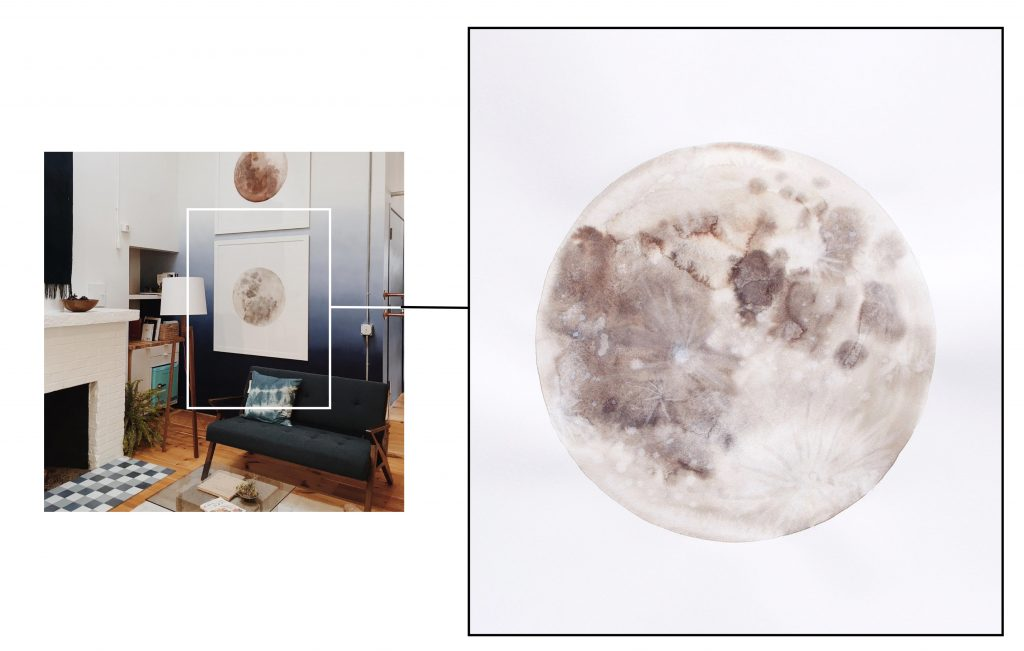 Desert Moon and Mammoth Moon by Stella Maria Baer. Featured on Wescover.