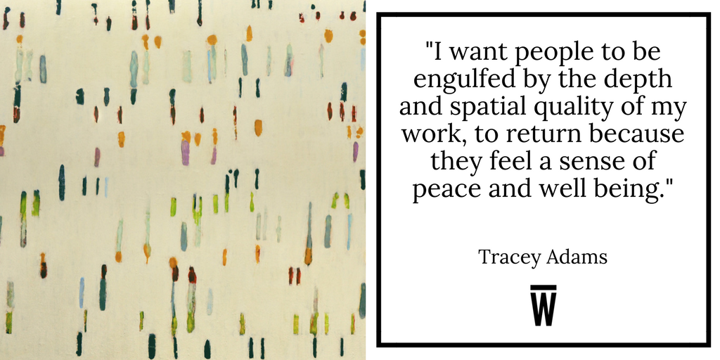 """I want people to be engulfed by the depth and spatial quality of my work, to return because they feel a sense of peace and wellbeing."" - Tracey Adams. Featured on Wescover."