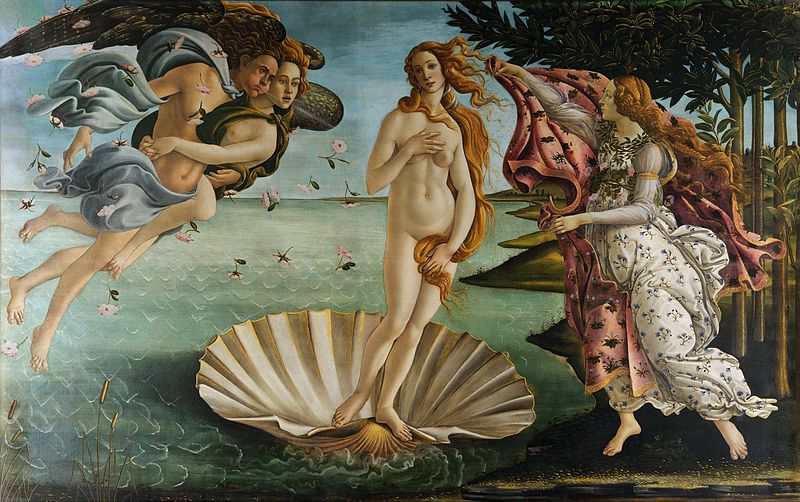 Sandro Botticelli, The Birth of Venus. 1484-1486 The Uffizzi Galleries, Florence.