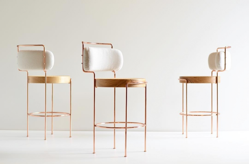 Laia Bar Stools by Gustavo Bittencourt in Sao Paulo, Brazil, as seen on Wescover.