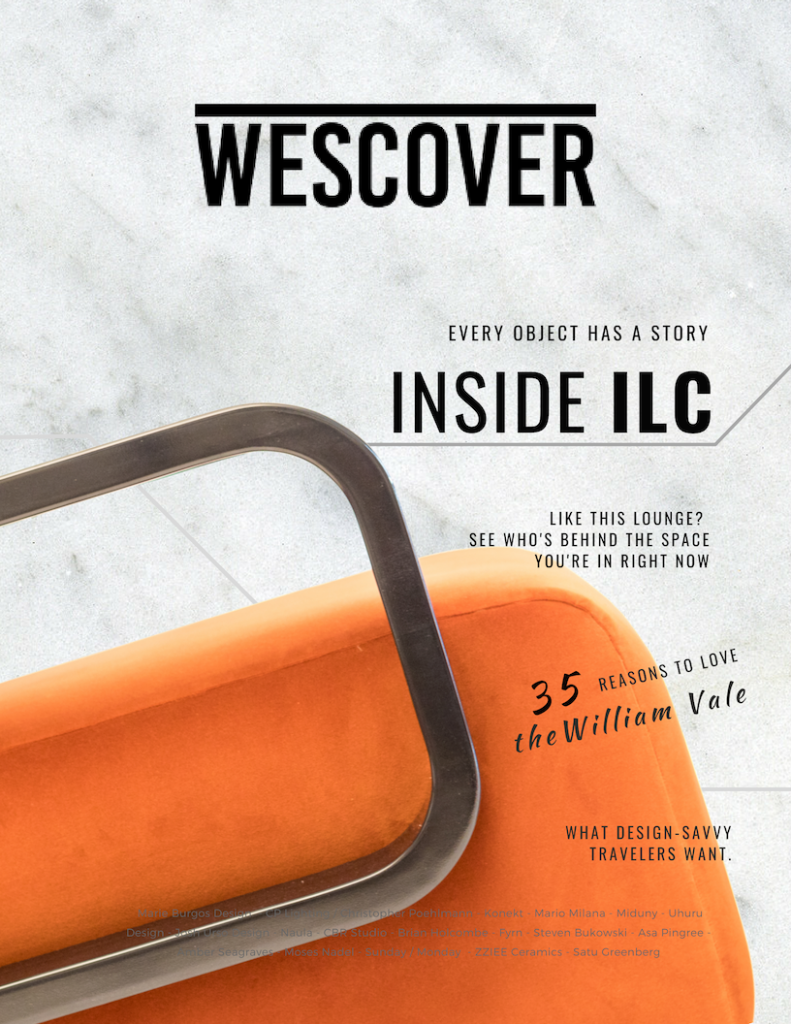 The cover of Wescover's event magazine for the International Lodging Congress