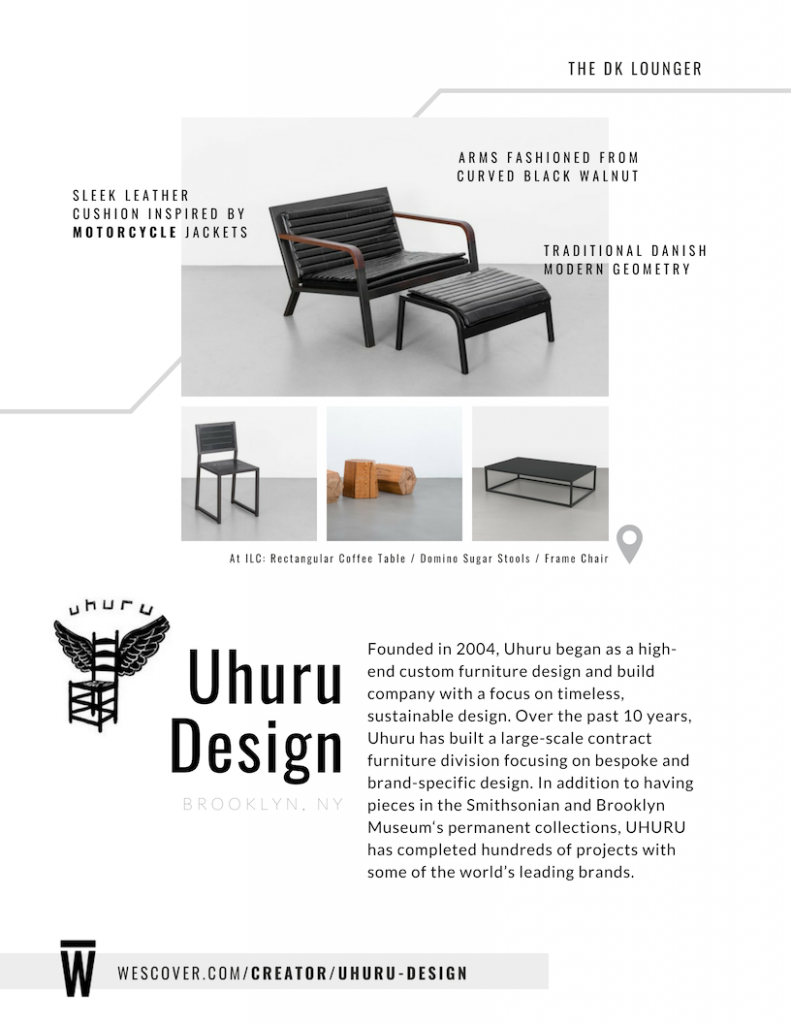 Founded in 2004, Uhuru began as high-end custom furniture design and build company with a focus on timeless, sustainable design.
