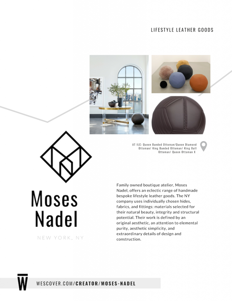 Family owned boutique atelier, Moses Nadel, offers an eclectic range of handmade bespoke lifestyle leather goods.
