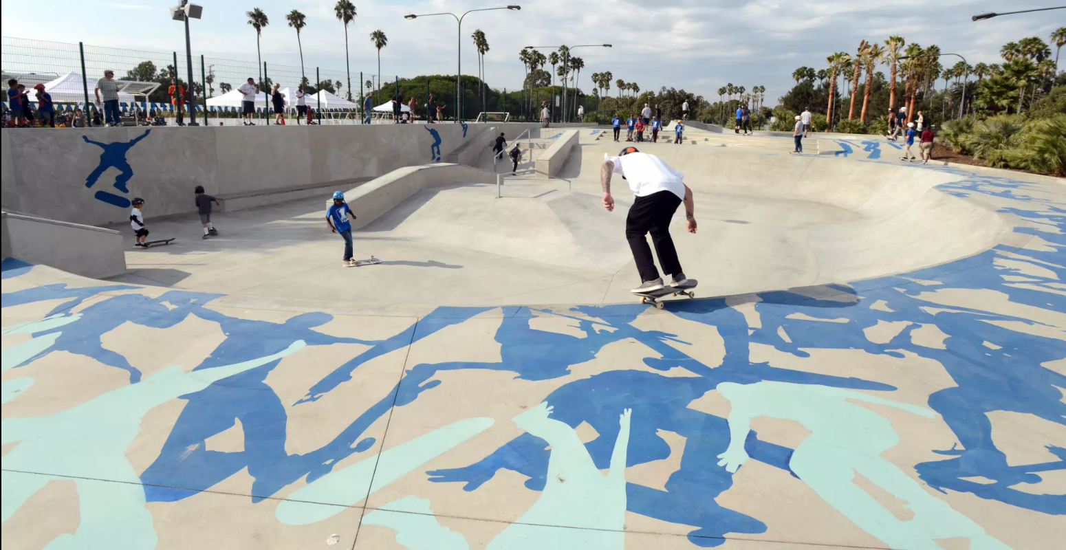 Fluid Dynamics by Kipp Kobayashi at Alondra Park in Los Angeles, seen on Wescover