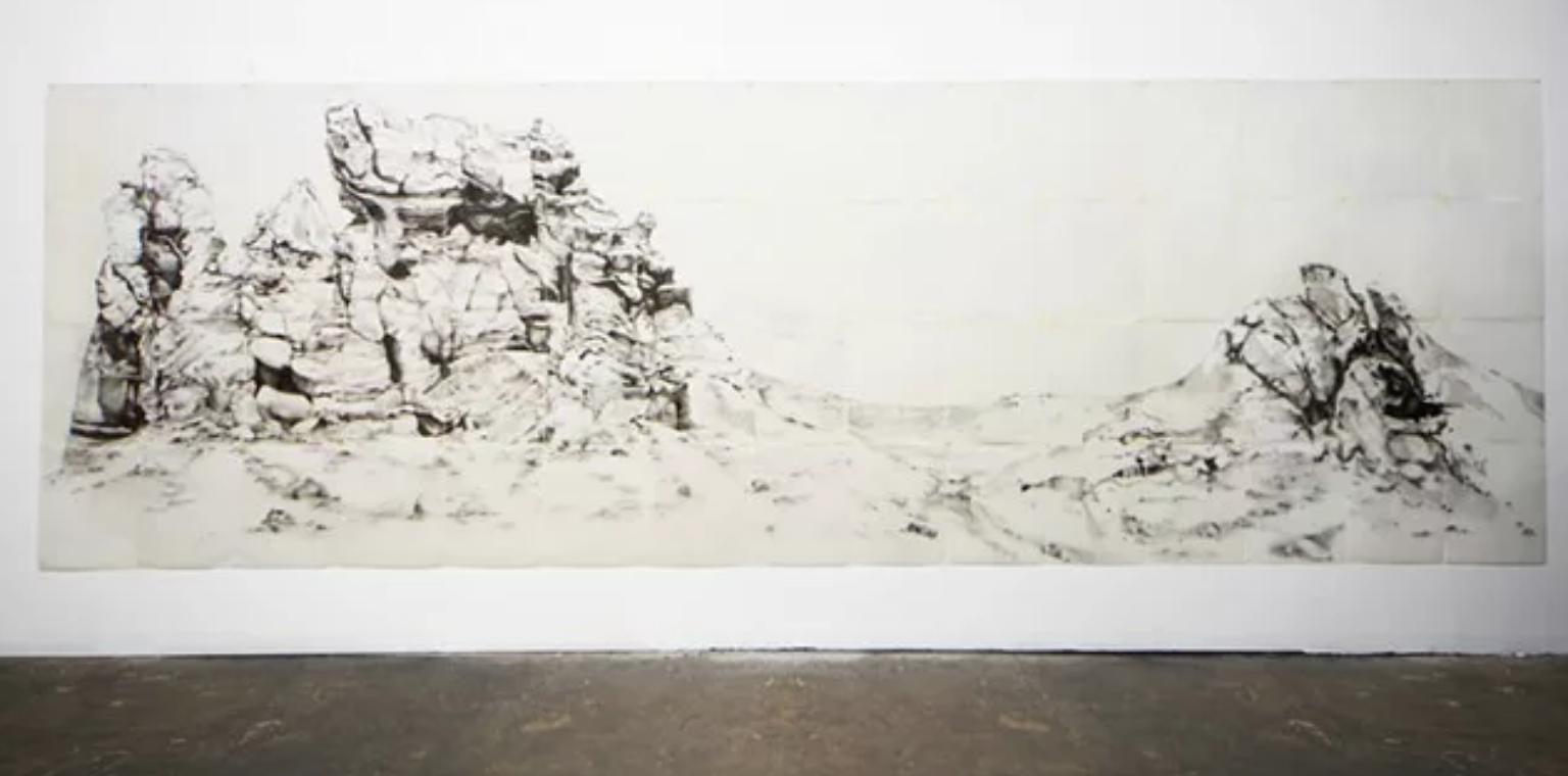 Artist, Landscape Portrait, Portrait, Graphite