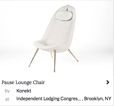 White modern lounge chair by Konekt