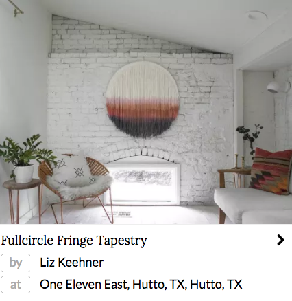 Fullcircle Fringe Tapestry by Liz Keehner at One Eleven East, Hutto, TX