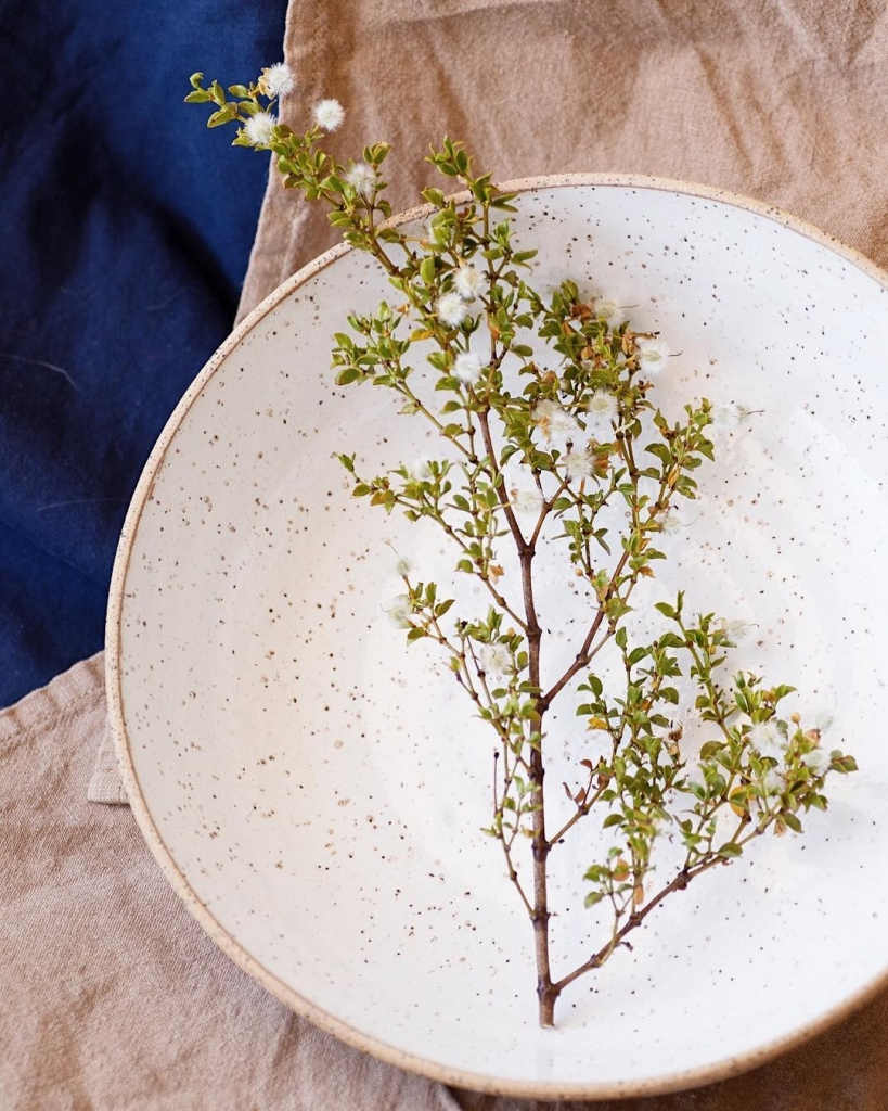 Wide Serving Bowl, tableware by ZZIEE Ceramics as seen in her Joshua tree Studio on Wescover.