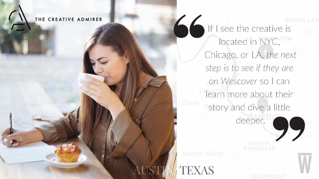 Brooke Blodgette, The Creative Admirer, Austin Blogger, Wescover