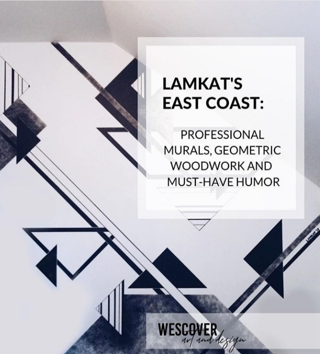 LAMKAT's East Coast, Geometric Murals.