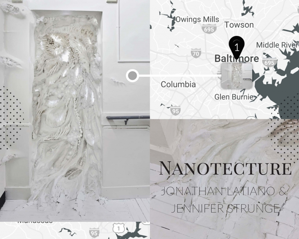 Nanotecture, a collaborative sculpture by Jonathan Latiano and Jennifer Strunge, as seen at the School 33 Art Center.