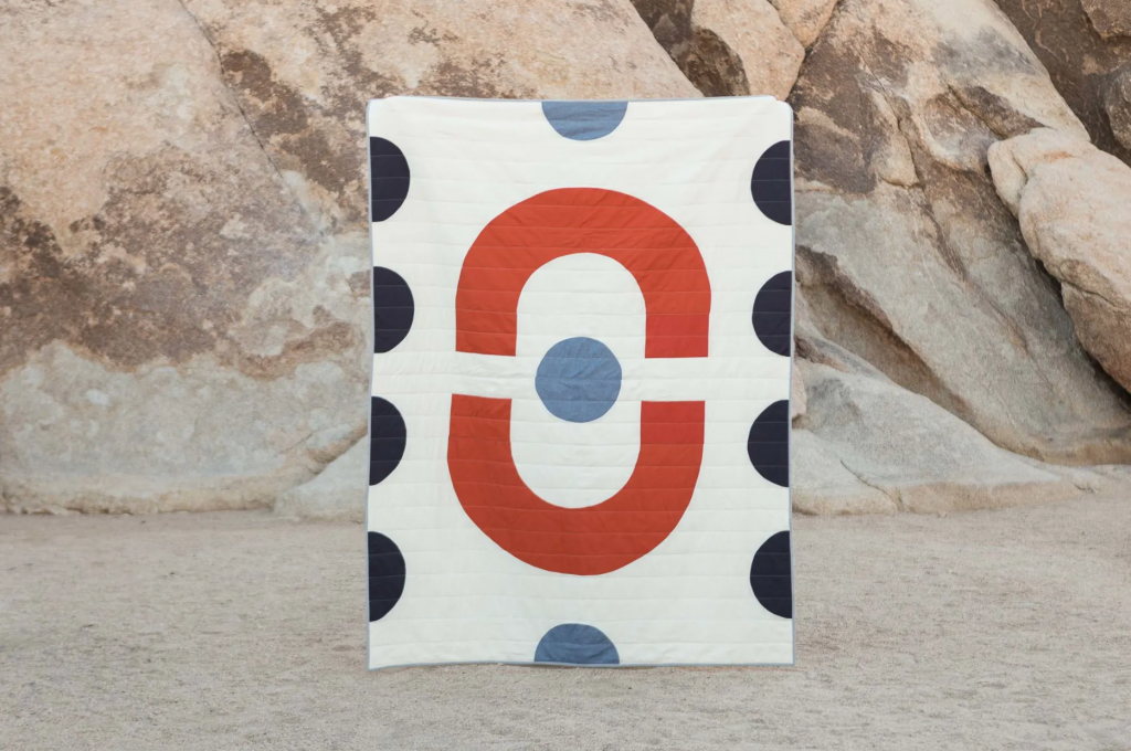 """Chisos Quilt"" by Laura Preston - Vacilando Quilting Co. at Joshua Tree National Park, as seen on Wescover."