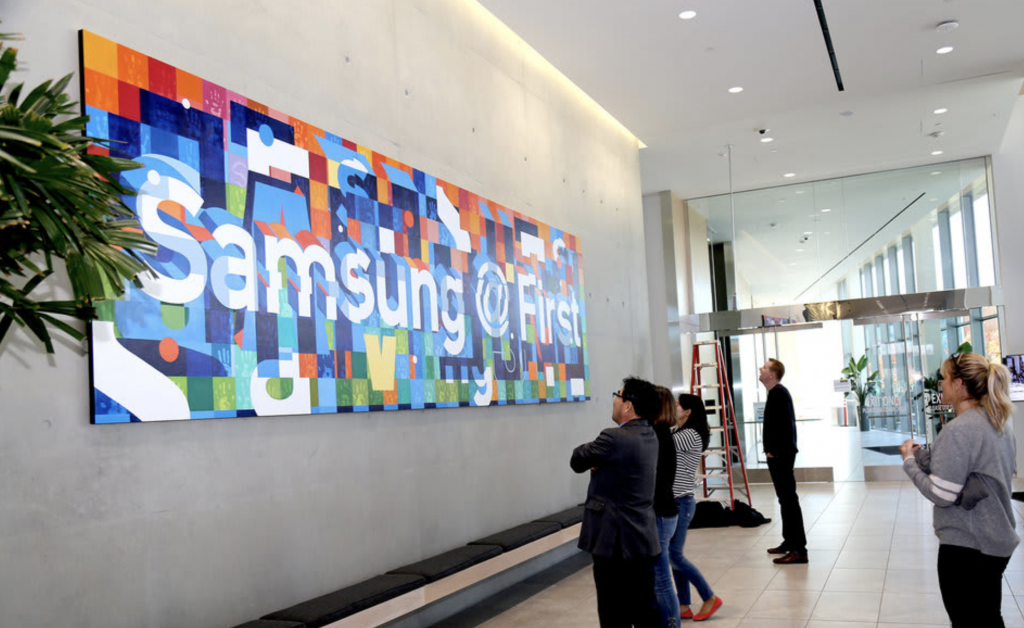 Samsung by Samuel Rodriguez in the Samsung Semiconductor, San Jose, CA as seen on Wescover