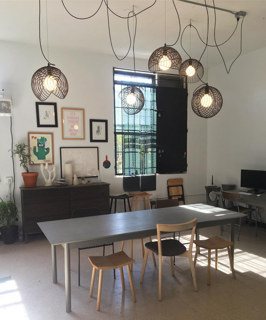 Dana Pendant Lights by Luis A. Arrivillaga in Souda Brooklyn Office, Brooklyn, NY.