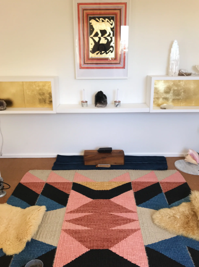 House of the Standing Moon Rug by TANU handwoven textiles.A La Casa de Freja pick featured on Wescover.