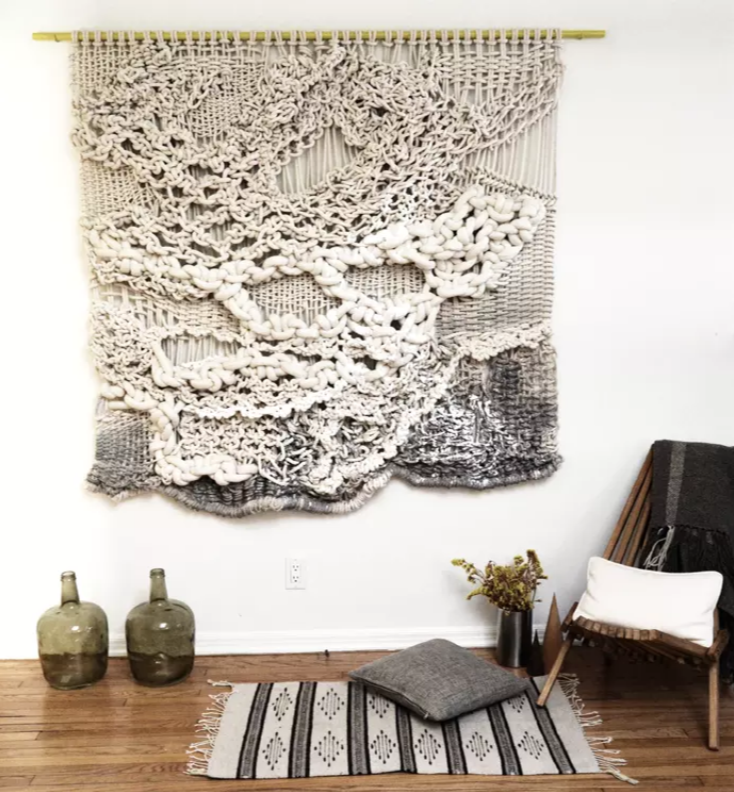 Knotted Wall Art by Belen Senra, Ranran Design. Displayed at a private residence in Venice Beach, CA. As seen on Wescover.