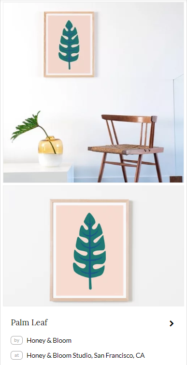 Palm Leaf by Honey & Bloom. Seen at Honey & Bloom Studio in San Francisco on Wescover.