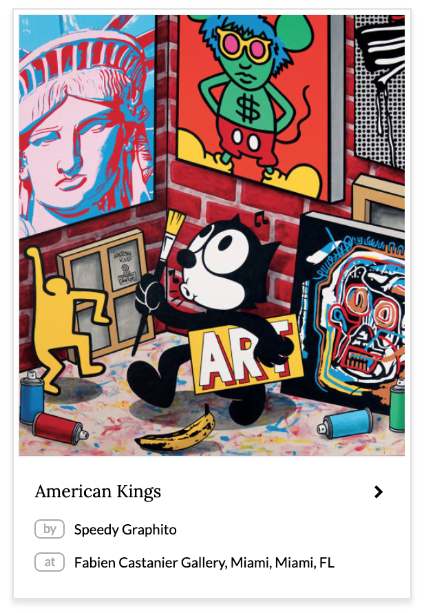 American Kings Murals by Speedy Graphito in Fabien Castanier Gallery, Miami, Miami, FL.