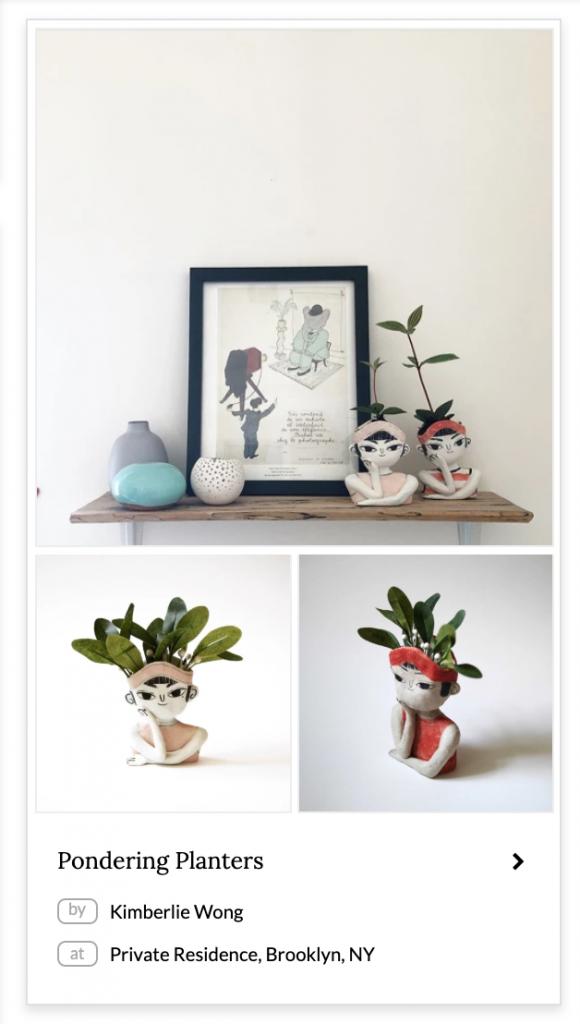 Pondering Planters Vases & Vessels by Kimberlie Wong