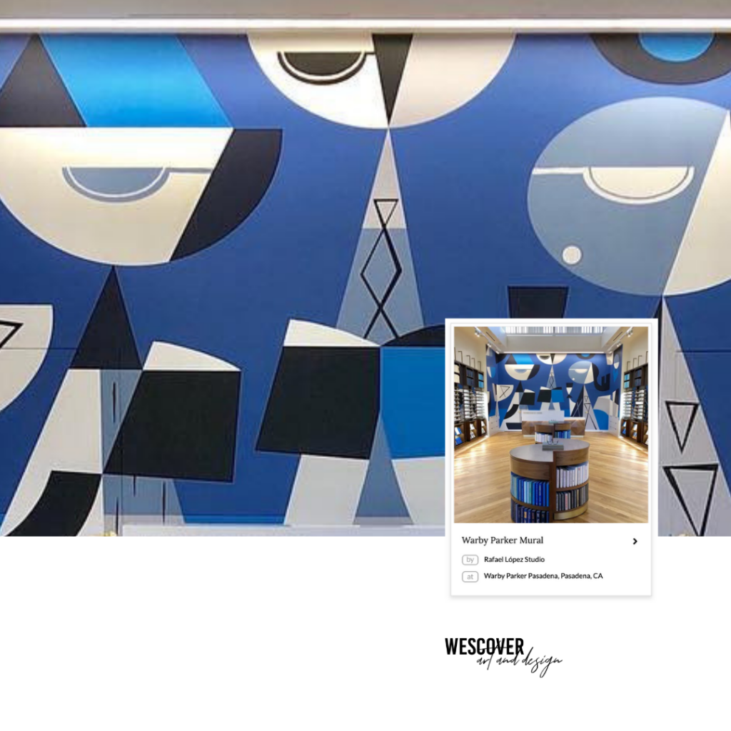 Warby Parker Mural by Rafael López Studio in Warby Parker Pasadena as seen on Wescover.