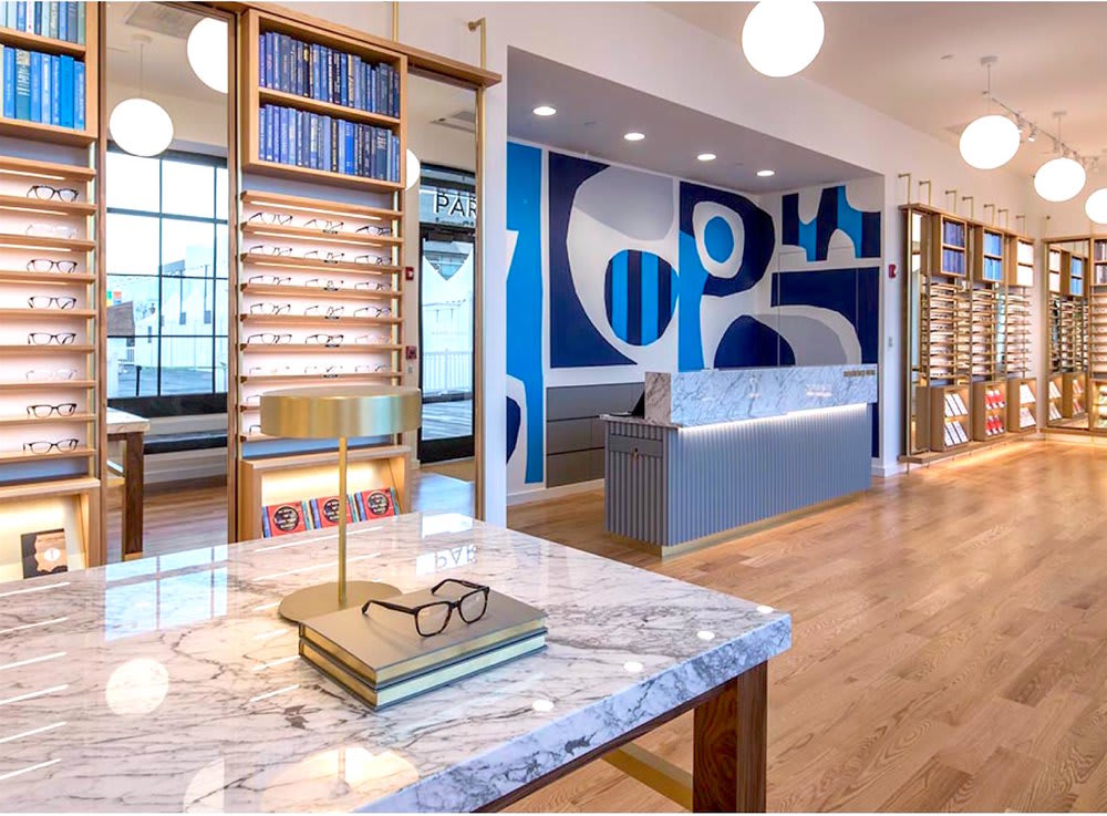 Wall Graphics by Cody Hudson in Warby Parker Oakbrook, IL as seen on Wescover.
