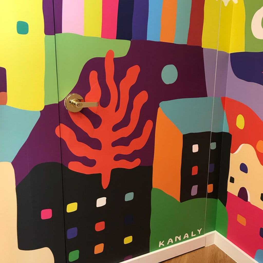 Warby Parker Classen Curve Mural by Kristopher Kanaly in Warby Parker Oklahoma City, OK 2
