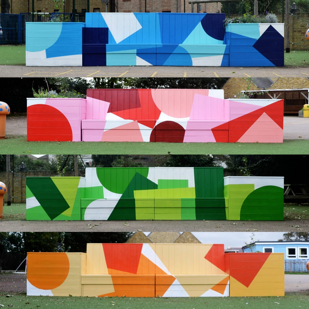 Wrotham School Benches by Charlie Oscar Patterson at Wrotham School, Wrotham, United Kingdom