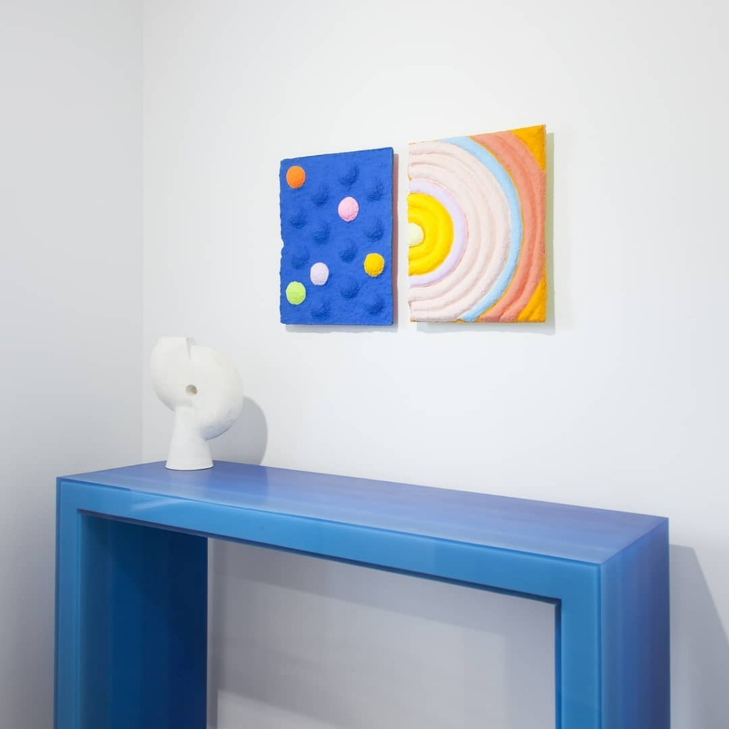 Gradient Console Blue by Facture Studio at VSOP Art + Design Projects, Greenport, NY