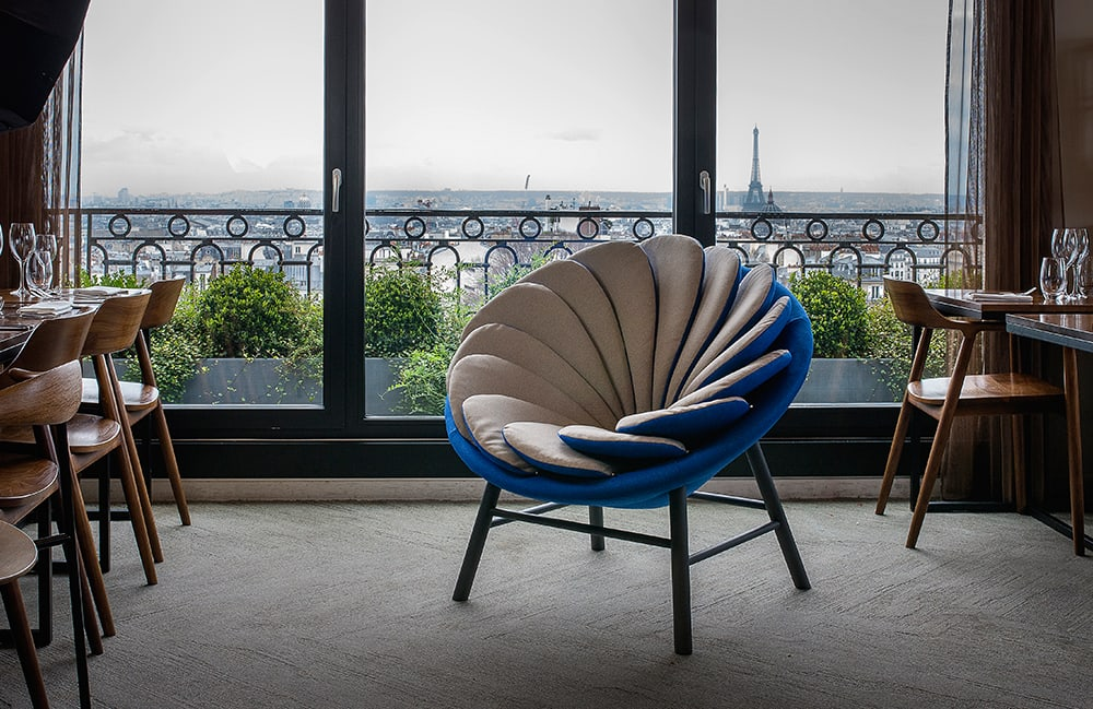 Quetzal Chair by Missana at Terrass Hôtel in Paris, France