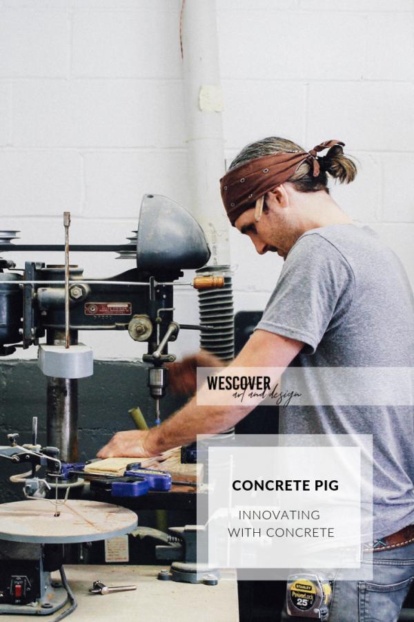 concrete pig, wescover creator