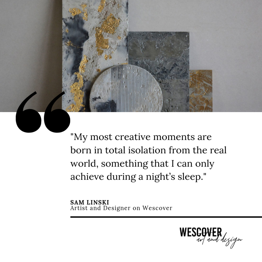concrete artwork and quote by sam linski