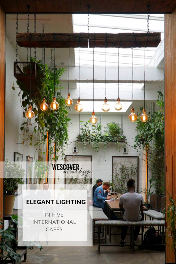 elegant lighting in international cafes