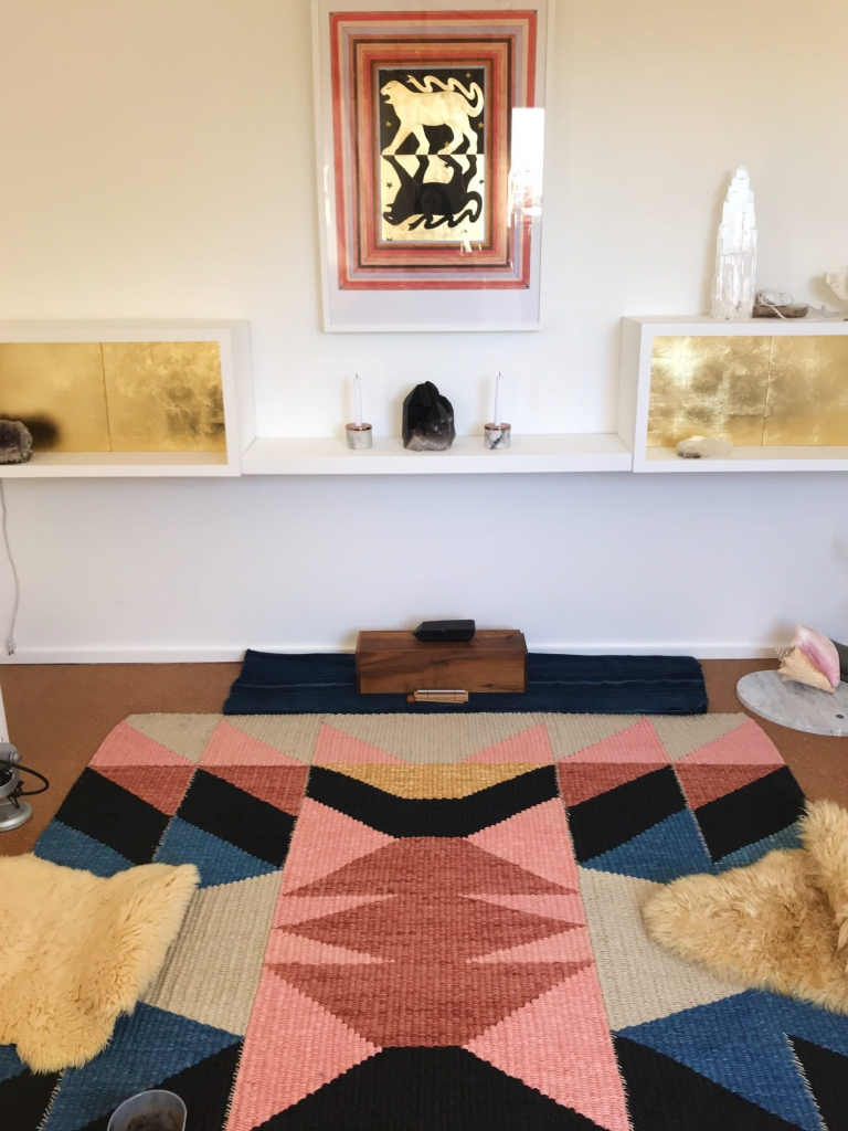 House of the Standing Moon Rug by TANU handwoven textiles