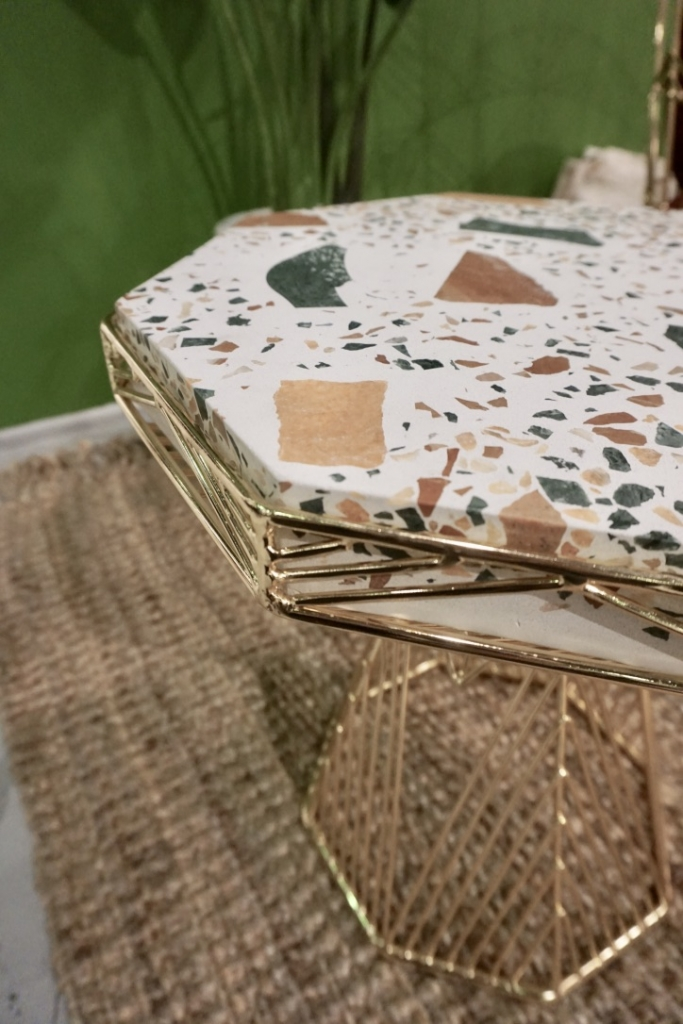 Bend Goods terrazzo table at WestEdge 2019. Wescover