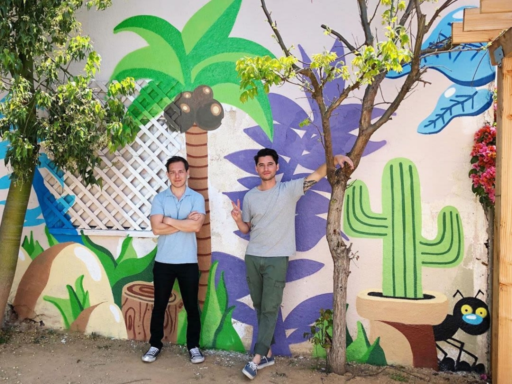Backyard Mural by Darin located at a private residence in Los Angeles, CA as seen on Wescover.