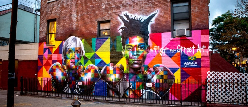 Fight for Street Art by Eduardo Kobra located at Bedford Avenue, Brooklyn, Brooklyn, NY as seen on Wescover.