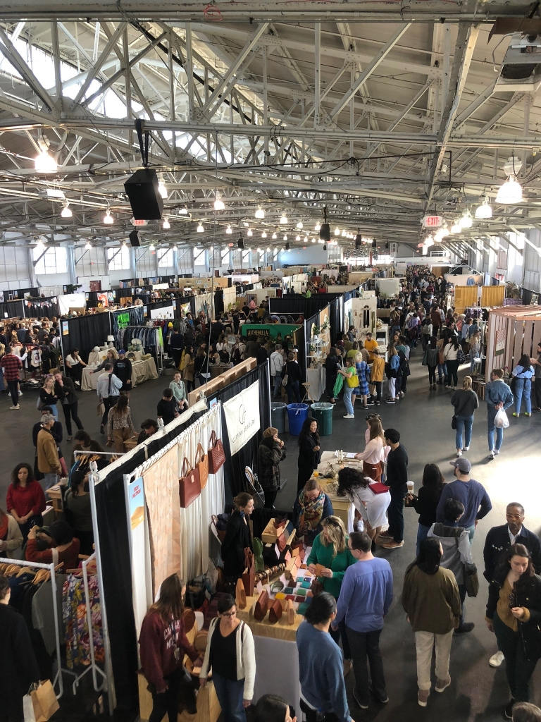 Sunday's Crowd in the main exhibition hall at the 2019 West Coast Craft as seen on Wescover