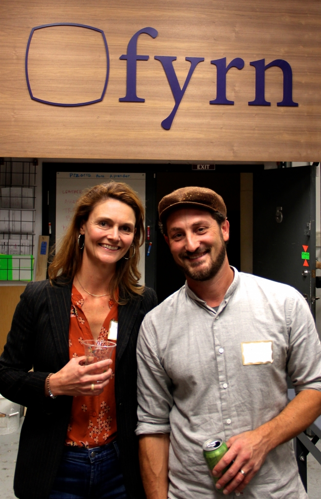 Katie Storey of Storey design and Dave Charne of Fyrn at the GFDA event.