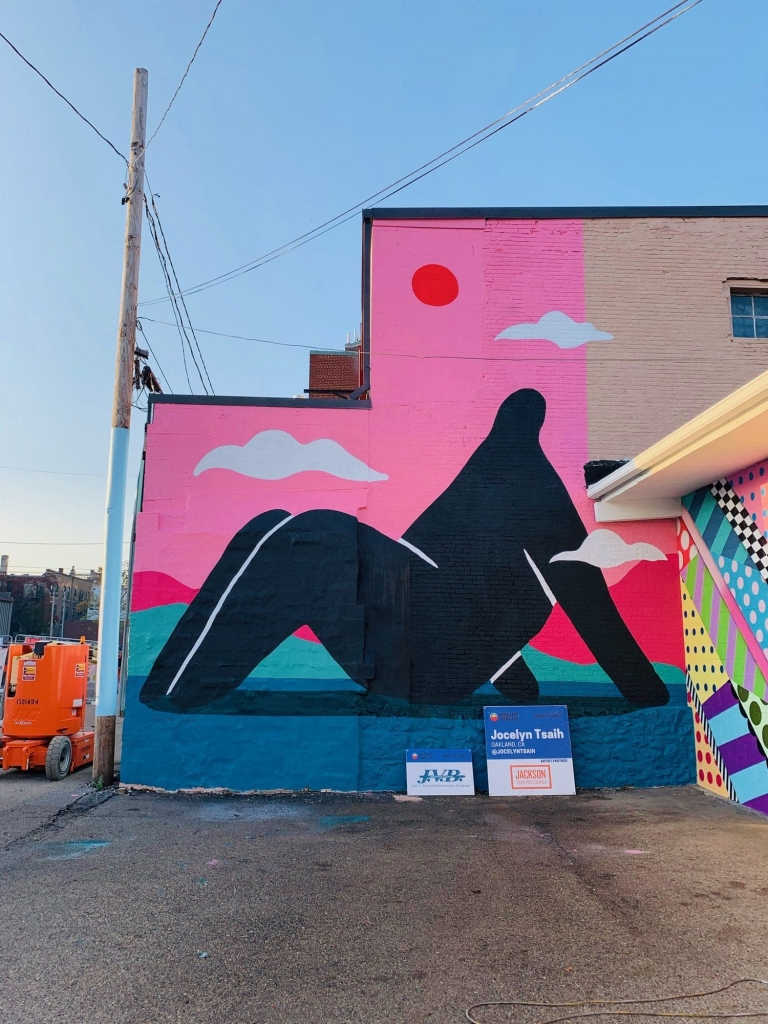 Mural by Jocelyn Tsaih located at Bright Walls Jackson, MI as seen on Wescover.
