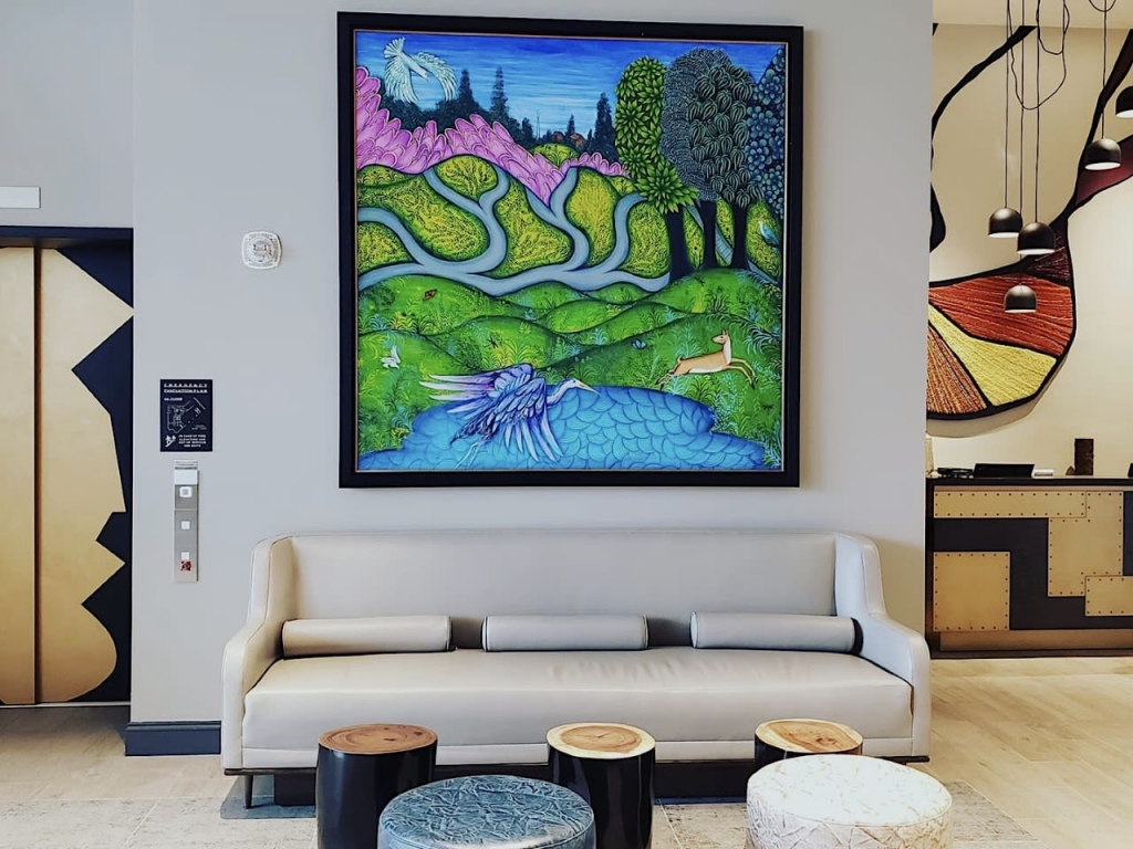 Marriott Hotel Commission by Sonia Benjamin located at The MC Hotel, Autograph Collection, Montclair, NJ as seen on Wescover.