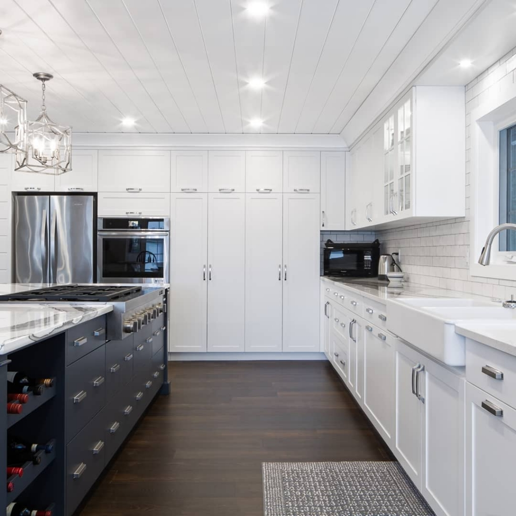 Custom kitchen cabinets for storage