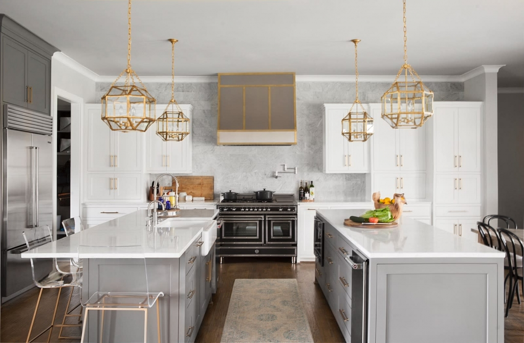 warm gray kitchen cabinets
