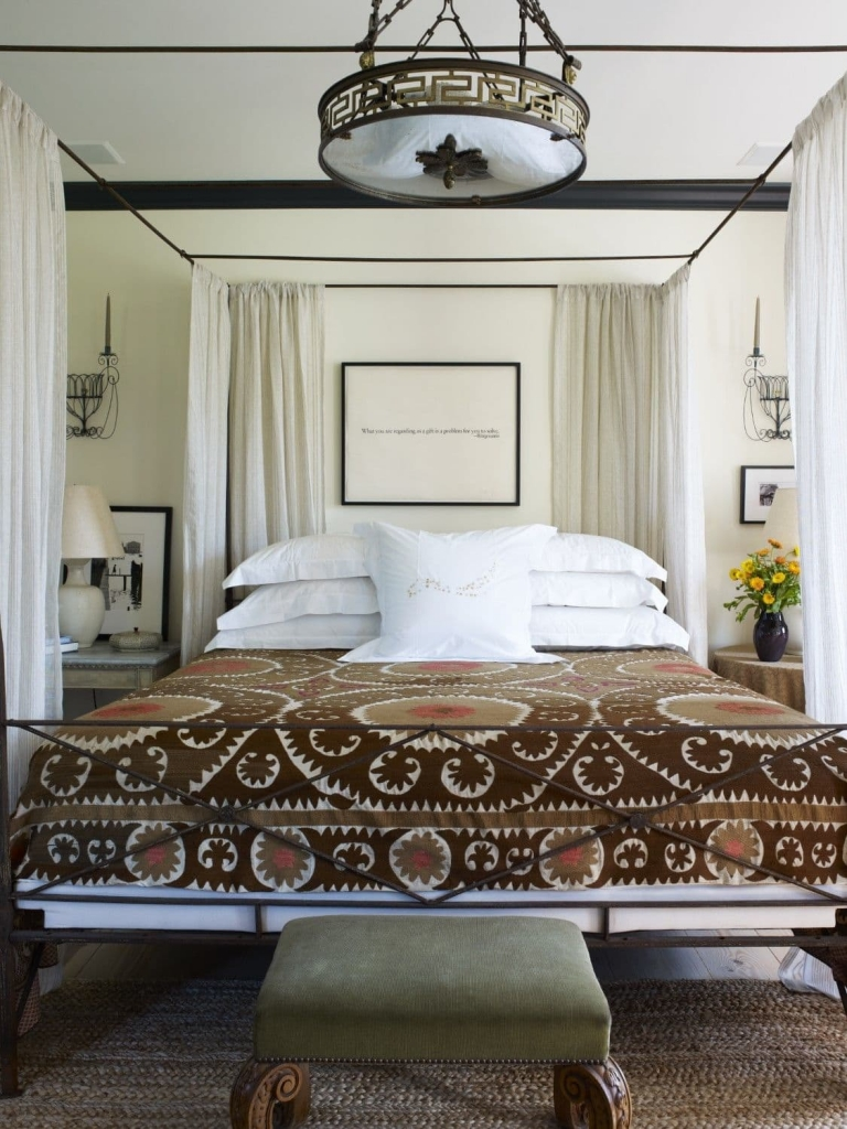 The master bedroom of the Alfalfa House designed by Brian J. McCarthy, located in New York, NY as seen on Wescover