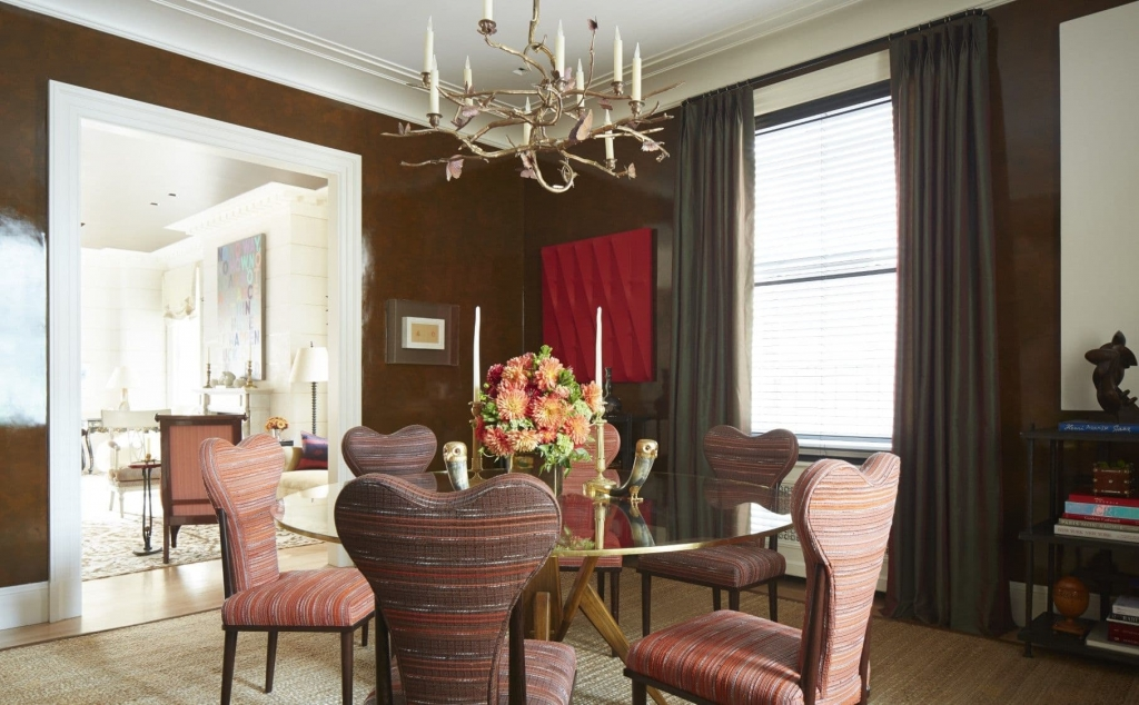 The dining room of a Manhattan Apartment designed by Brian J. McCarthy in New York, NY as seen on Wescover.